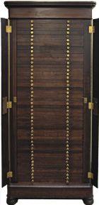 Photo numismatique  ARCHIVES VENTE 2017-6 oct - Coll Dr Y. Goalard MÉDAILLIERS   409- Médaillier meuble XIXe avec rabats latéraux à serrures.
