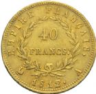 Photo numismatique  MONNAIES MODERNES FRANÇAISES NAPOLEON Ier, empereur (18 mai 1804- 6 avril 1814)  40 francs or, Paris, 1812.