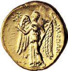 Photo numismatique  VENTE 9 mars 2018 - Coll. Dr P. Corre et divers GRECE ANTIQUE Rois de MACEDOINE ALEXANDRE III le Grand (336-323) 1- Statère d'or, Acre, à partir de 312.