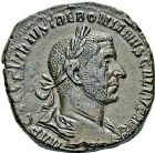 Photo numismatique  ARCHIVES VENTE 9 mars 2018 - Coll. Dr P. Corre EMPIRE ROMAIN TRÉBONIEN GALLE (251 - 253)  19- Sesterce, Rome, 251-253.