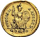 Photo numismatique  ARCHIVES VENTE 9 mars 2018 - Coll. Dr P. Corre EMPIRE ROMAIN THÉODOSE Ier (379-395)  22- Solidus, Constantinople, 383388.