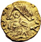 Photo numismatique  ARCHIVES VENTE 9 mars 2018 - Coll. Dr P. Corre PEUPLES BARBARES MEROVINGIENS CITES SANTONAE (Saintes, Charente-Maritime(')) 24- Ausonius monétaire. Triens.