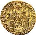 Photo numismatique  VENTE 9 mars 2018 - Coll. Dr P. Corre et divers ROYALES FRANCAISES PHILIPPE VI DE VALOIS(1er avril 1328-22 août 1350)  35- Chaise d'or (17 juillet 1346).
