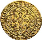 Photo numismatique  ARCHIVES VENTE 9 mars 2018 - Coll. Dr P. Corre ROYALES FRANCAISES PHILIPPE VI DE VALOIS(1er avril 1328-22 août 1350)  35- Chaise d'or (17 juillet 1346).