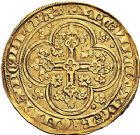 Photo numismatique  ARCHIVES VENTE 9 mars 2018 - Coll. Dr P. Corre ROYALES FRANCAISES JEAN II LE BON (22 août 1350-18 avril 1364)  36- Écu d'or à la chaise, 4ème émission (22 septembre 1351).