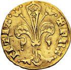 Photo numismatique  ARCHIVES VENTE 9 mars 2018 - Coll. Dr P. Corre ROYALES FRANCAISES JEAN II LE BON (22 août 1350-18 avril 1364)  40- Florin d'or, émission pour le Languedoc, (21 février 1360), Montpellier (?).