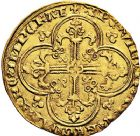 Photo numismatique  ARCHIVES VENTE 9 mars 2018 - Coll. Dr P. Corre ROYALES FRANCAISES CHARLES V (8 avril 1364-16 septembre 1380)  41- Franc d'or à cheval (3 septembre 1364).