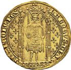 Photo numismatique  ARCHIVES VENTE 9 mars 2018 - Coll. Dr P. Corre ROYALES FRANCAISES CHARLES V (8 avril 1364-16 septembre 1380)  42- Franc d'or à pied (20 avril 1365).