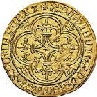 Photo numismatique  ARCHIVES VENTE 9 mars 2018 - Coll. Dr P. Corre ROYALES FRANCAISES CHARLES VI (16 septembre 1380-21 octobre 1422)  43-  Écu d'or, 5ème émission (2 novembre 1411), Paris.