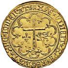 Photo numismatique  ARCHIVES VENTE 9 mars 2018 - Coll. Dr P. Corre ROYALES FRANCAISES HENRI VI, roi de France et d'Angleterre (31 octobre 1422–19 octobre 1453)  44- Salut d'or de la 2ème émission (6 septembre 1423), Rouen.