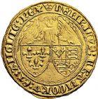 Photo numismatique  VENTE 9 mars 2018 - Coll. Dr P. Corre et divers ROYALES FRANCAISES HENRI VI, roi de France et d'Angleterre (31 octobre 1422–19 octobre 1453)  45- Angelot d'or (24 mai 1427), Paris.