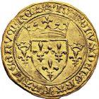 Photo numismatique  ARCHIVES VENTE 9 mars 2018 - Coll. Dr P. Corre ROYALES FRANCAISES CHARLES VII (30 octobre 1422-22 juillet 1461)  47- Écu d'or à la couronne dit «écu neuf», 2ème émission (12 août 1445), Paris.