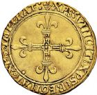 Photo numismatique  ARCHIVES VENTE 9 mars 2018 - Coll. Dr P. Corre ROYALES FRANCAISES CHARLES VIII (20 août 1483-7 avril 1498)  49- Écu d'or au soleil, 2ère émission (8 juillet 1494), Paris.