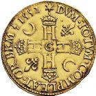 Photo numismatique  VENTE 9 mars 2018 - Coll. Dr P. Corre et divers ROYALES FRANCAISES HENRI II (31 mars 1547-10 juillet 1559)  55- Double Henri d'or du 1er type, Saint-Lô 1552.