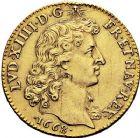Photo numismatique  VENTE 9 mars 2018 - Coll. Dr P. Corre et divers ROYALES FRANCAISES LOUIS XIV (14 mai 1643-1er septembre 1715)  60- Louis d'or à la tête nue, 1er type, Paris 1668.