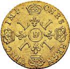 Photo numismatique  ARCHIVES VENTE 9 mars 2018 - Coll. Dr P. Corre ROYALES FRANCAISES LOUIS XIV (14 mai 1643-1er septembre 1715)  62- Louis d'or aux quatre L, Lyon 1694.