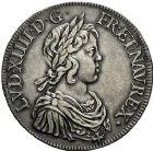 Photo numismatique  VENTE 9 mars 2018 - Coll. Dr P. Corre et divers ROYALES FRANCAISES LOUIS XIV (14 mai 1643-1er septembre 1715)  64- Écu à la mèche courte, Paris 1643.