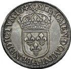 Photo numismatique  ARCHIVES VENTE 9 mars 2018 - Coll. Dr P. Corre ROYALES FRANCAISES LOUIS XIV (14 mai 1643-1er septembre 1715)  64- Écu à la mèche courte, Paris 1643.