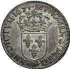 Photo numismatique  ARCHIVES VENTE 9 mars 2018 - Coll. Dr P. Corre ROYALES FRANCAISES LOUIS XIV (14 mai 1643-1er septembre 1715)  69- Écu à la cravate, dit « du Parlement », 1er type, 2ème émission, Aix 1679.