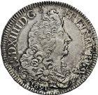 Photo numismatique  ARCHIVES VENTE 9 mars 2018 - Coll. Dr P. Corre ROYALES FRANCAISES LOUIS XIV (14 mai 1643-1er septembre 1715)  73- Écu aux huit L du 1er type, Metz 1691.