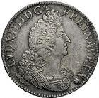 Photo numismatique  VENTE 9 mars 2018 - Coll. Dr P. Corre et divers ROYALES FRANCAISES LOUIS XIV (14 mai 1643-1er septembre 1715)  74- Écu aux palmes, Paris 1697.