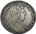 Photo numismatique  VENTE 9 mars 2018 - Coll. Dr P. Corre et divers ROYALES FRANCAISES LOUIS XIV (14 mai 1643-1er septembre 1715)  75- Écu aux insignes, Paris 1702.