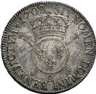 Photo numismatique  ARCHIVES VENTE 9 mars 2018 - Coll. Dr P. Corre ROYALES FRANCAISES LOUIS XIV (14 mai 1643-1er septembre 1715)  75- Écu aux insignes, Paris 1702.