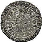 Photo numismatique  ARCHIVES VENTE 9 mars 2018 - Coll. Dr P. Corre BARONNIALES Duché de BRETAGNE CHARLES de BLOIS (1341-1364) 96- Gros à la couronne.