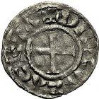 Photo numismatique  ARCHIVES VENTE 9 mars 2018 - Coll. Dr P. Corre BARONNIALES Comté de DREUX HUGUES BARDOUL (vers 1035-1055) 108- Denier.