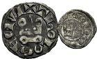 Photo numismatique  ARCHIVES VENTE 9 mars 2018 - Coll. Dr P. Corre BARONNIALES Comté de TOULOUSE ALPHONSE de France (1249-1271) 146- Denier et obole.