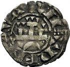 Photo numismatique  ARCHIVES VENTE 9 mars 2018 - Coll. Dr P. Corre BARONNIALES Royaume de NAVARRE THIBAUT II (1253-1270) 148- Lot de 4 monnaies dont denier de Thibaut II.