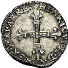 Photo numismatique  ARCHIVES VENTE 9 mars 2018 - Coll. Dr P. Corre BARONNIALES Royaume de NAVARRE HENRI III (1572-1589) 149- Quart d'écu frappé en 1584.