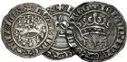 Photo numismatique  ARCHIVES VENTE 9 mars 2018 - Coll. Dr P. Corre BARONNIALES Comté de PROVENCE LOUIS Ier et JEANNE (1349-1362) 163- Lot de 3 monnaies.