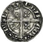 Photo numismatique  ARCHIVES VENTE 9 mars 2018 - Coll. Dr P. Corre BARONNIALES Comté de PROVENCE JEANNE de NAPLES (1343-1382) 164- Demi-carlin ou octhène de Piémont, Tarascon après 1365.
