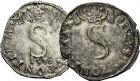 Photo numismatique  ARCHIVES VENTE 9 mars 2018 - Coll. Dr P. Corre BARONNIALES Comtat VENAISSIN SIXTE V (1585-1590) 172- Gros de six blancs 1586 et gros de six blancs non daté.
