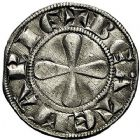 Photo numismatique  ARCHIVES VENTE 9 mars 2018 - Coll. Dr P. Corre BARONNIALES Principauté d'ORANGE Début du XIVe siècle 176- Denier imitant la monnaie du Puy.