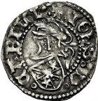 Photo numismatique  ARCHIVES VENTE 9 mars 2018 - Coll. Dr P. Corre BARONNIALES Principauté d'ORANGE JEAN II de CHALON (1475-1478 et 1482-1502) 180- Lot de 2 monnaies dont un double denier.
