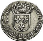 Photo numismatique  ARCHIVES VENTE 9 mars 2018 - Coll. Dr P. Corre BARONNIALES Principauté d'ORANGE GUILLAUME HENRI de Nassau (1650-1702) 185- Douzième d'écu, 1660.