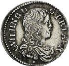 Photo numismatique  ARCHIVES VENTE 9 mars 2018 - Coll. Dr P. Corre BARONNIALES Principauté d'ORANGE GUILLAUME HENRI de Nassau (1650-1702) 186- Douzième d'écu, 1666.