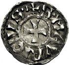 Photo numismatique  ARCHIVES VENTE 9 mars 2018 - Coll. Dr P. Corre BARONNIALES Archevêché de VIENNE HENRI LE NOIR Roi de Bourgogne (1038-1056) 190- Denier.