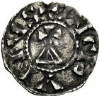 Photo numismatique  ARCHIVES VENTE 9 mars 2018 - Coll. Dr P. Corre BARONNIALES Comté de LYON CONRAD, roi de Bourgogne (937-979) 201- Denier. Calvaire.