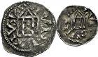 Photo numismatique  ARCHIVES VENTE 9 mars 2018 - Coll. Dr P. Corre BARONNIALES Comté de LYON RODOLPHE III, roi de Bourgogne (993-1032) 202- Denier et obole.
