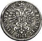 Photo numismatique  ARCHIVES VENTE 9 mars 2018 - Coll. Dr P. Corre BARONNIALES Cité de BESANCON Monnayage au nom de CHARLES QUINT 213- Quart de Daldre, 1664.