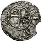Photo numismatique  ARCHIVES VENTE 9 mars 2018 - Coll. Dr P. Corre BARONNIALES Comté de SCODINGUE ANONYME (XIe siècle) 214- Denier anonyme, Lons-le-Saunier, vers 1000.