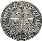 Photo numismatique  ARCHIVES VENTE 9 mars 2018 - Coll. Dr P. Corre BARONNIALES Duché de LORRAINE JEAN Ier (1346-1389) 225- Gros au heaume, Nancy.