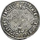 Photo numismatique  ARCHIVES VENTE 9 mars 2018 - Coll. Dr P. Corre BARONNIALES Duché de LORRAINE CHARLES II (1390-1431) 226- Gros au cavalier, Nancy.