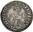 Photo numismatique  ARCHIVES VENTE 9 mars 2018 - Coll. Dr P. Corre BARONNIALES Cité de METZ (Fin XVe - début XVIe siècle) 238-  Gros (2) au saint Étienne agenouillé.