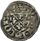 Photo numismatique  ARCHIVES VENTE 9 mars 2018 - Coll. Dr P. Corre BARONNIALES Evêché de LANGRES GUILLAUME de Joinville (1209-1219) 239- Denier.