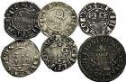 Photo numismatique  ARCHIVES VENTE 9 mars 2018 - Coll. Dr P. Corre BARONNIALES Evéché de MEAUX, Arch. de REIMS, Duché de BOUILLON  244- Lot de 6 monnaies.
