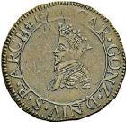 Photo numismatique  ARCHIVES VENTE 9 mars 2018 - Coll. Dr P. Corre BARONNIALES Principauté d'ARCHES-CHARLEVILLE CHARLES  II de GONZAGUE, duc de Mantoue (1601-1637) 247- « Essai » du liard, 16(07), ou liard-jeton, Charleville.